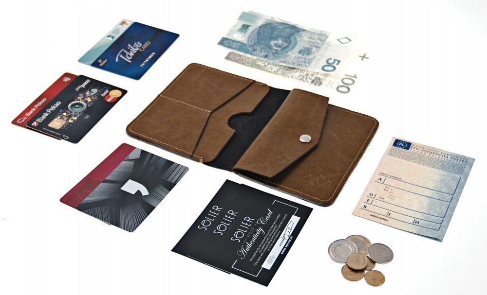 79b045063d0c6f Kliknij, aby powiększyć · Cienki skórzany męski portfel z bilonówką SOLIER  SW15A SLIM CZARNY Kliknij, aby powiększyć ...