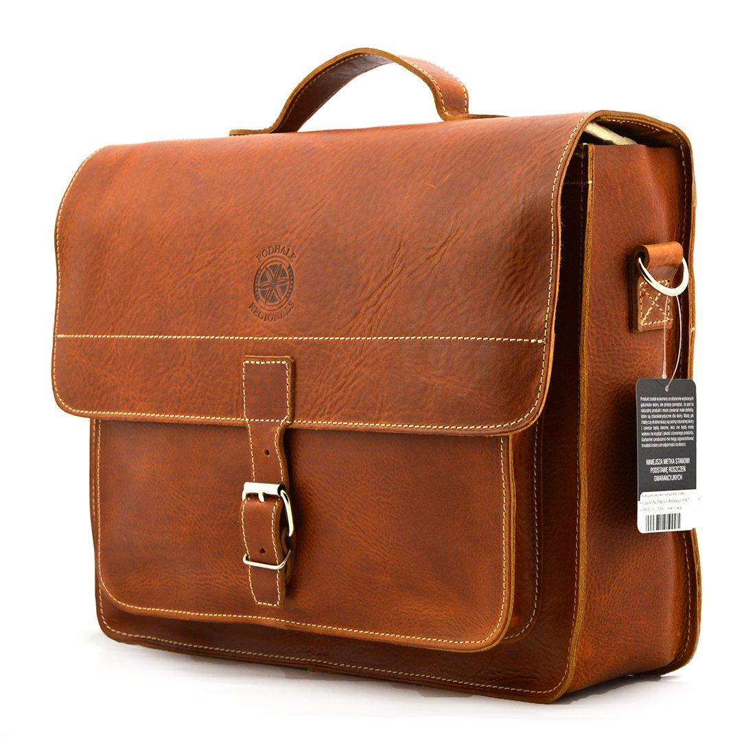 260819c864a2e Klasyczna torba Podhale Regionals b917 koniak - Skóra juchtowa premium    Koniak - Kup teraz Online