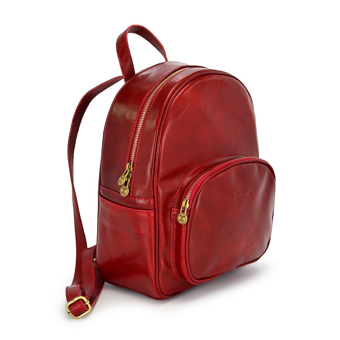 4841cc999e302 Plecak skórzany vp820 czerwony - Skóra licowa premium \ CZERWONY ...