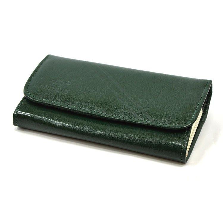 218f9cdcb9dab Portfel skórzany Andrus classic 007b Zielony Kliknij, aby powiększyć ...