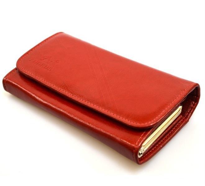 db67568787ae5 Portfel skórzany Andrus classic 007b czerwony - czerwony - Kup teraz Online