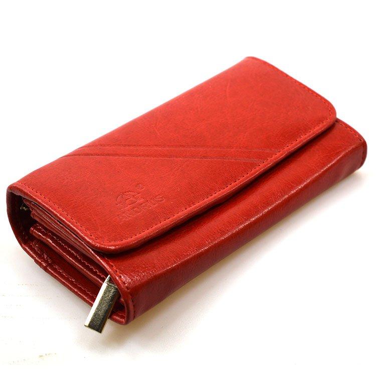 1abc6af5b8a40 Portfel skórzany Andrus classic 007z czerwony - - Kup teraz Online ...