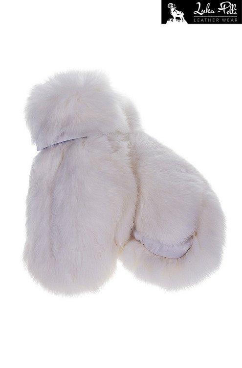 1d2e591517108 Rękawiczki futrzane białe z królika - Futro królika - Kup teraz Online