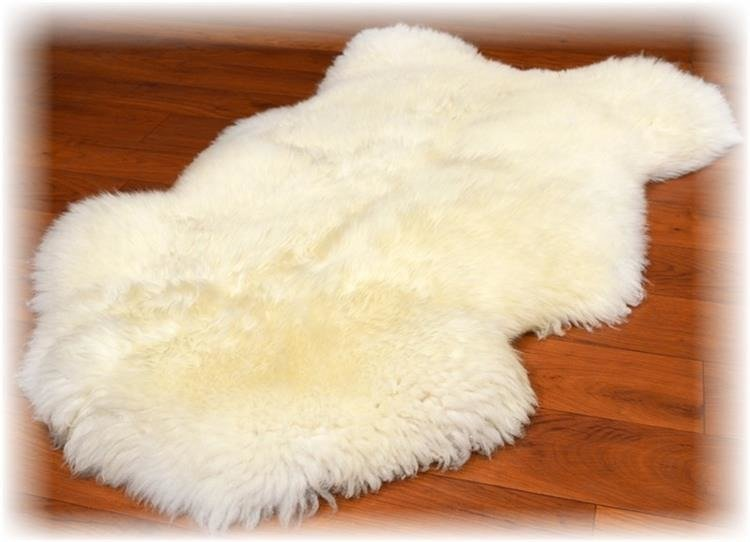 4e6044b4f1474 Skóra owcza biała - Naturalny włos   Biała - Kup teraz Online
