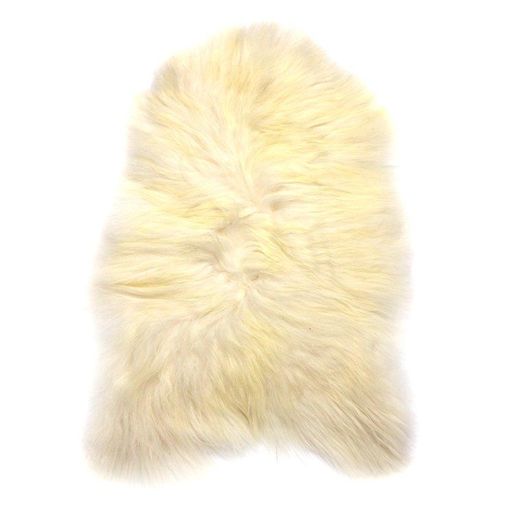 5938bfd254d76 Skóra owcza biała na długim włosiu - Naturalny włos   Biała - Kup teraz  Online