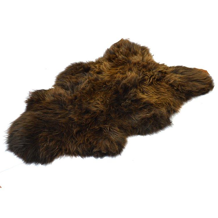 5ddcc555fa4d2 Skóra owcza brązowa z długim włosiem - Naturalny włos   Brązowy - Kup teraz  Online