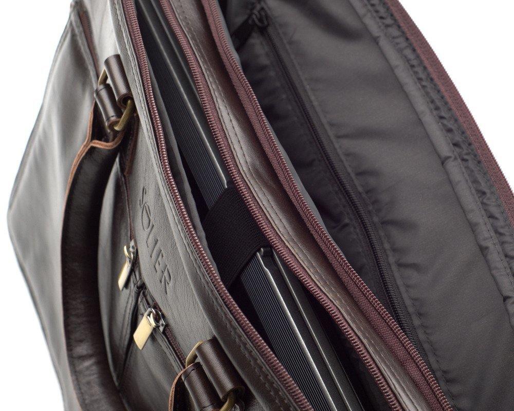 acea8f78011ea ... Skórzana męska torba na ramię, laptopa Solier SL01 DUNDEE Kliknij, aby  powiększyć ...