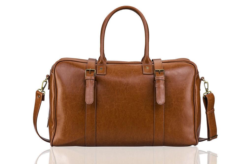 31db615e2485a Skórzana męska torba podróżna, weekend Solier SL16 HAMILTON Kliknij, aby  powiększyć ...