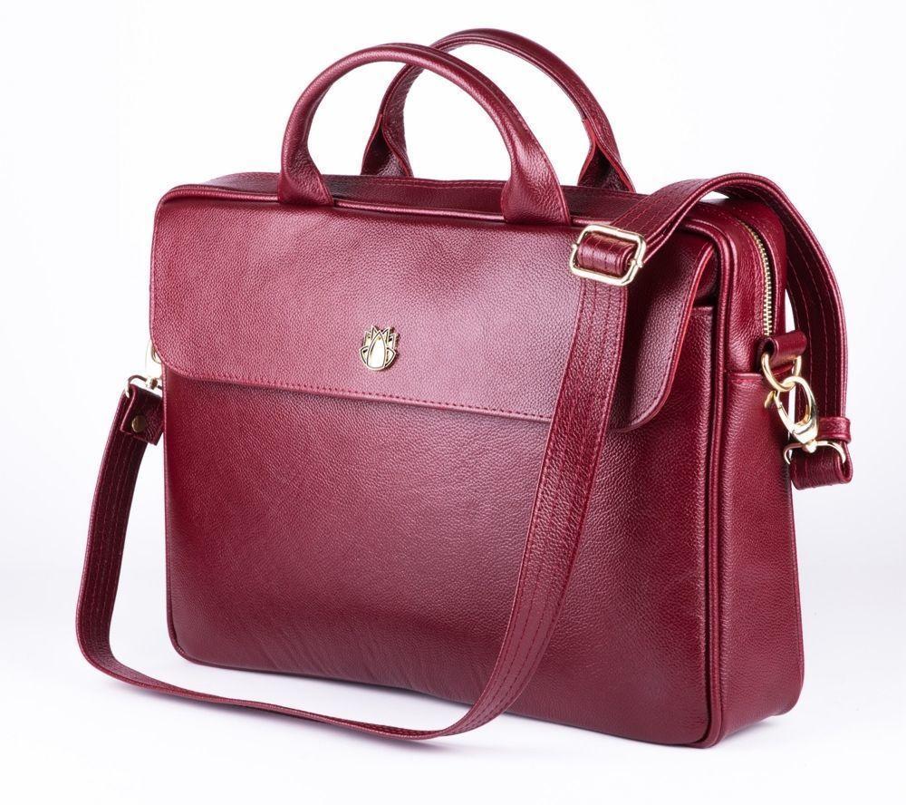 Skórzana torba na laptopa FL16 Sorrento burgundowa
