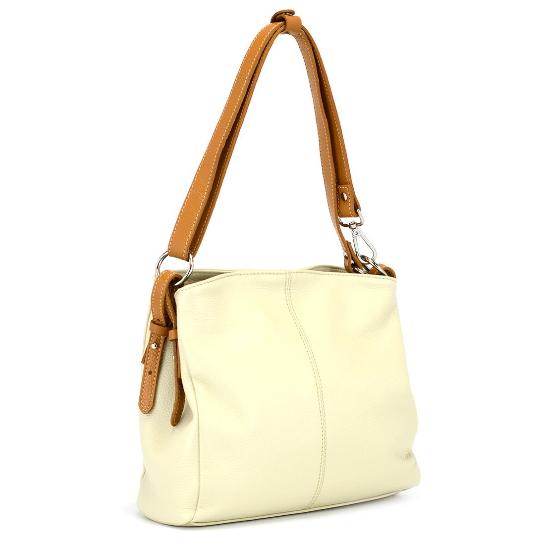 Włoska torebka skórzana s7034 błekitnyczarny